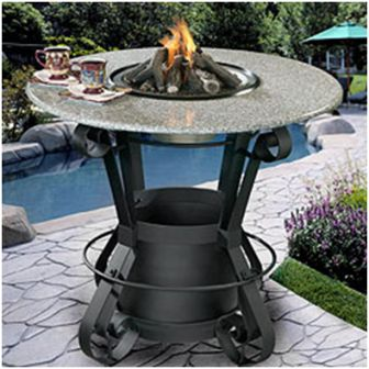 Solano Outdoor Fire Pit Table - Outdoor pub table fire pit