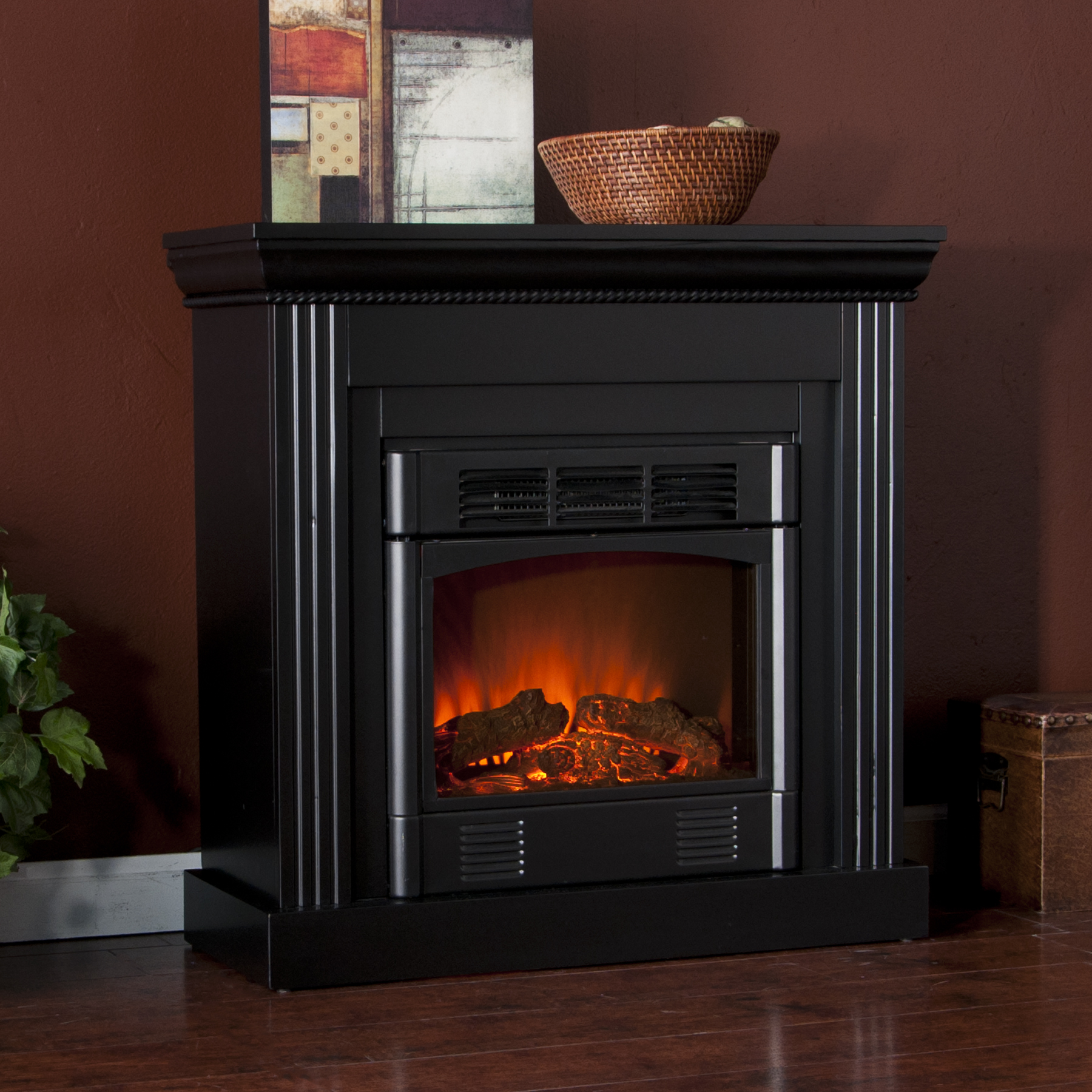 Holly Amp Martin Bastrop Petite Convertible Electric Fireplace Black Holly Amp Martin 37 036