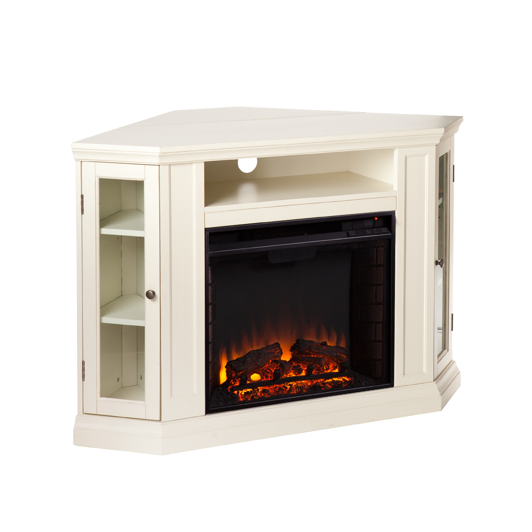 Claremont Convertible Media Electric Fireplace Ivory Southern Enterprises Fe9314