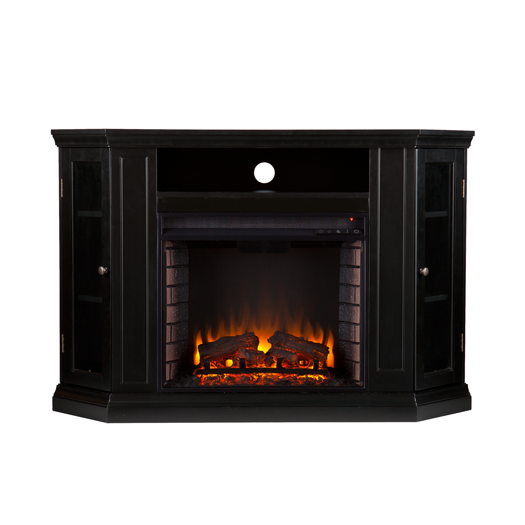 Claremont Convertible Media Electric Fireplace Black Southern Enterprises Fe9315
