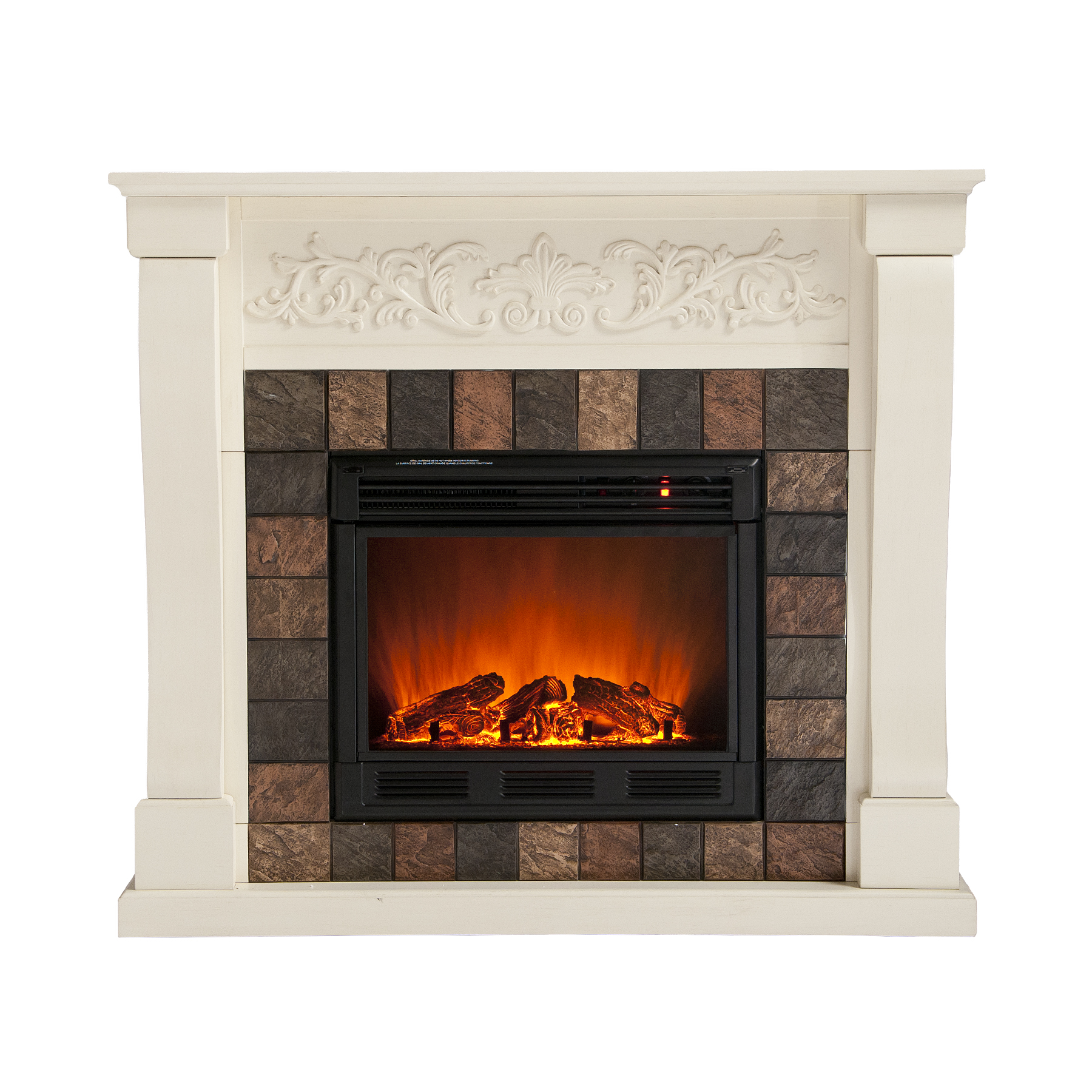 Holly Martin Calgary Electric Fireplace Ivory Holly