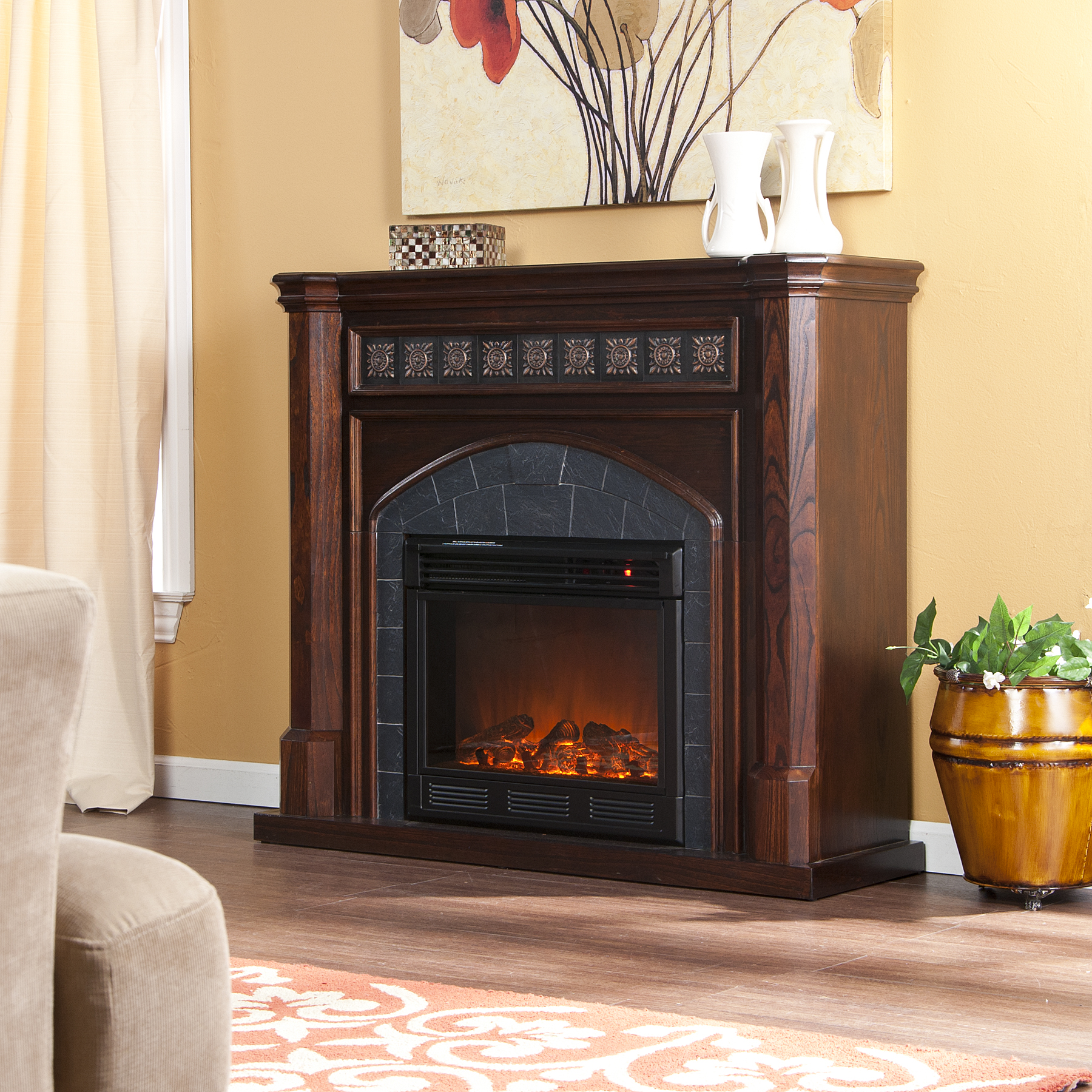 Holly & Martin™ Belton Electric Fireplace-Espresso - Holly ...