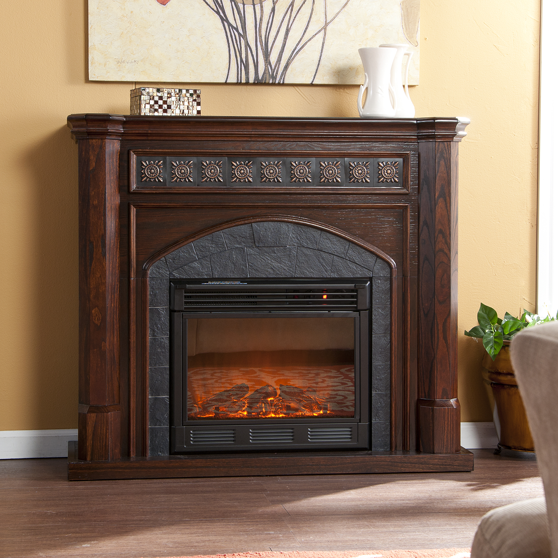 Holly Amp Martin Belton Electric Fireplace Espresso Holly