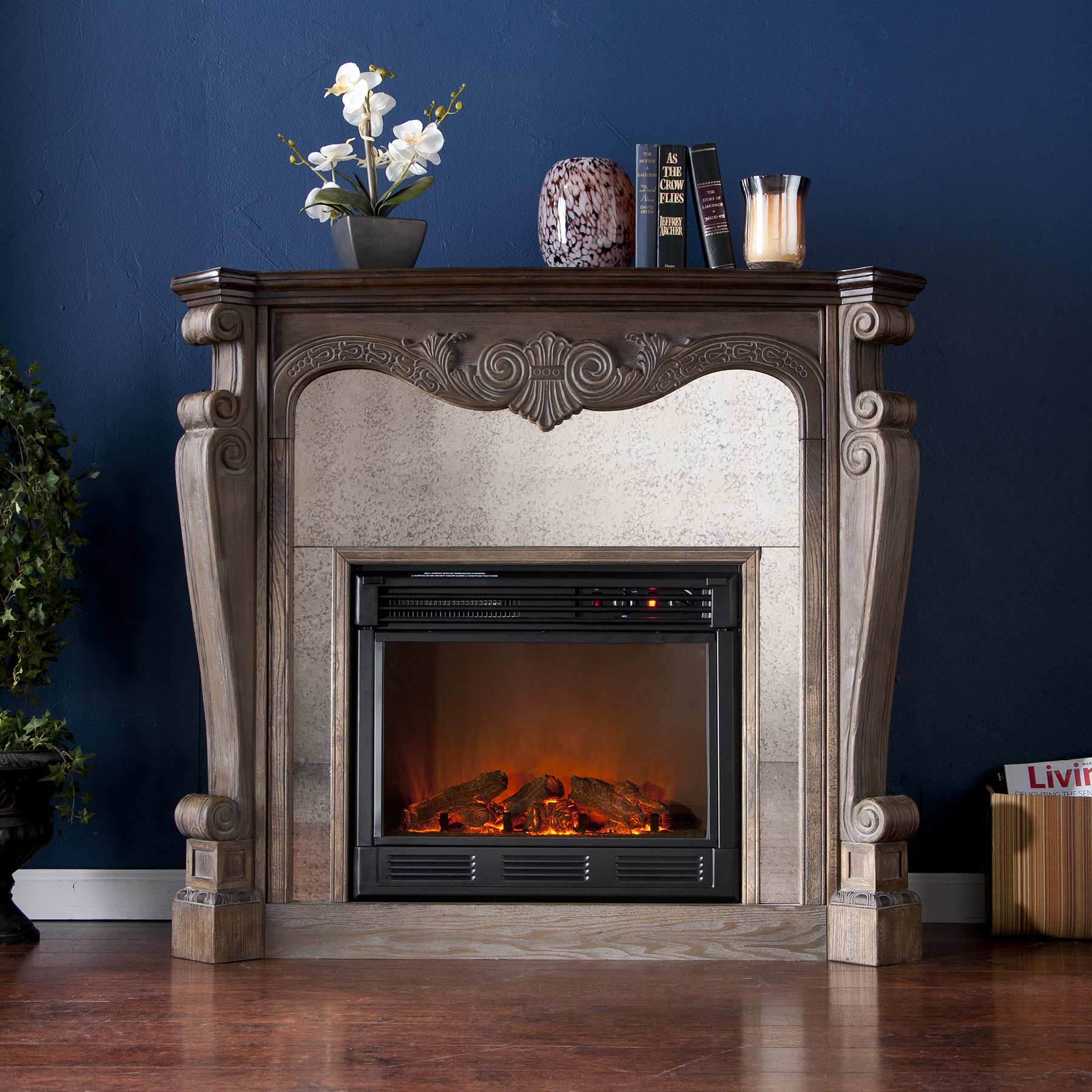 Vegas Petite Graphite Electric Fireplace By Evolution Fires