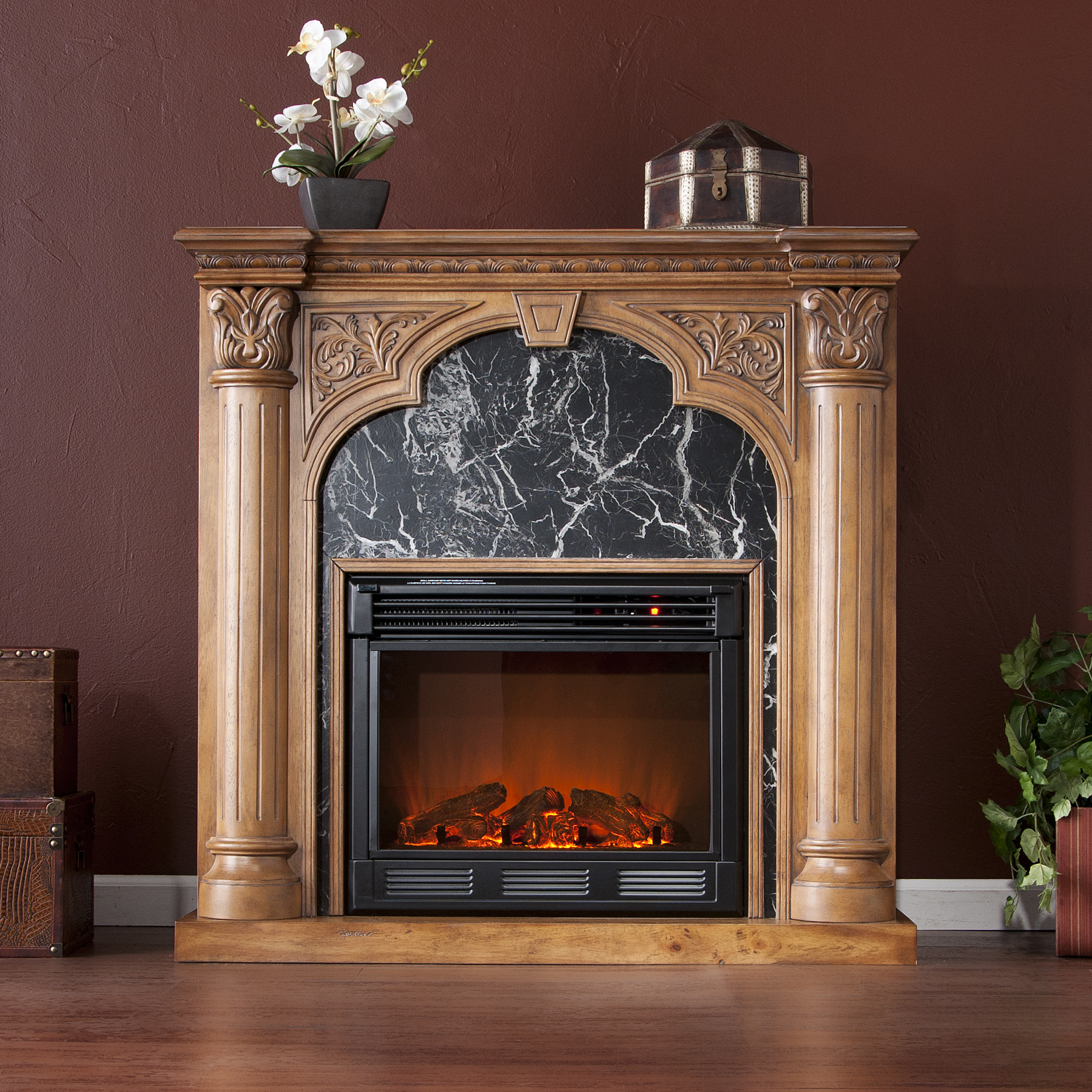 Holly Amp Martin Bedford Electric Fireplace Old World Oak