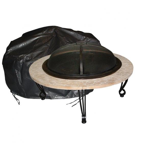 Outdoor round firepit vinyl cover