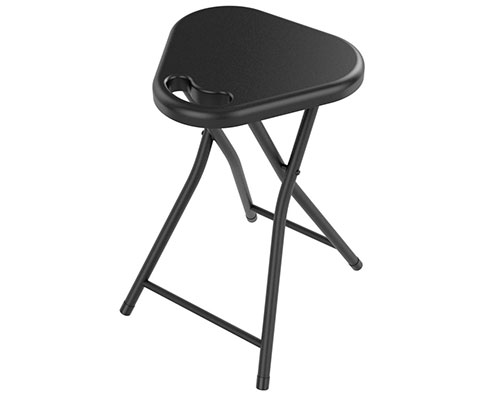 Folding Stool W/ Handle (4 Pack) In Black