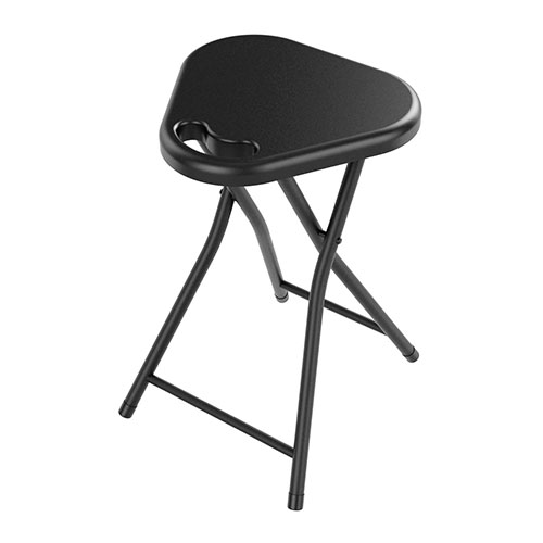 Folding Stool With Handle In Black- 4 Pack