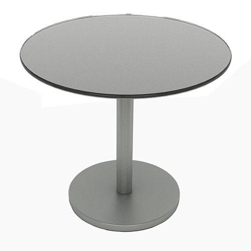 Glass Side Table, Moon Mist