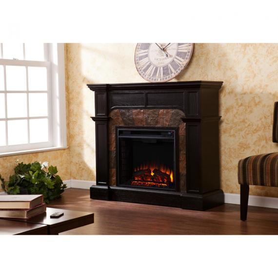 Cartwright Convertible Electric Fireplace - Ebony