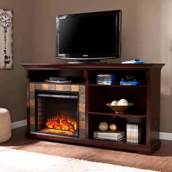 Gatlinburg Bookshelf Electric Fireplace - Espresso