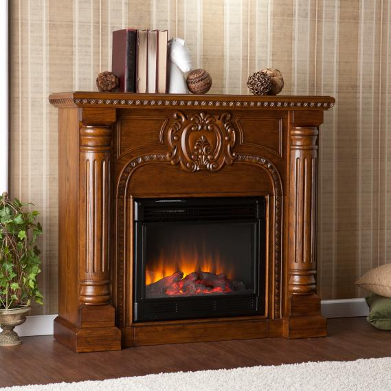 Romano Electric Fireplace - Salem Antique Oak