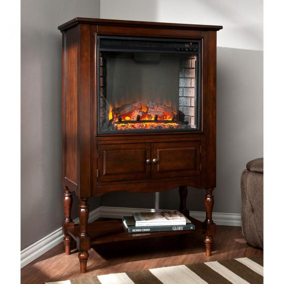 Providence Fireplace Tower - Mahogany