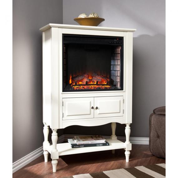 Providence Fireplace Tower - Antique White