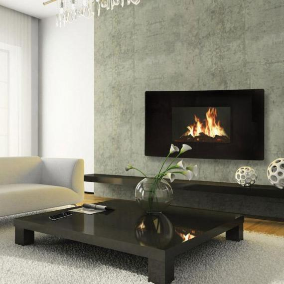 Celsi Curved LCD Wall Fireplace