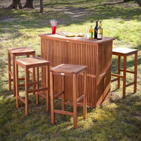 Trinidad Outdoor Bar - 5Pc Set