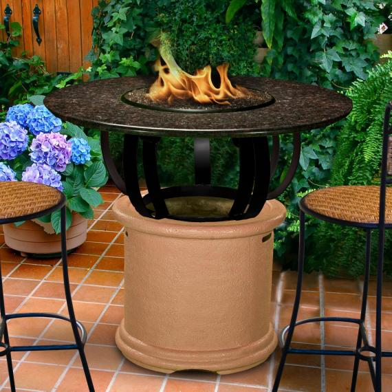Del Mar Fire Pit Table
