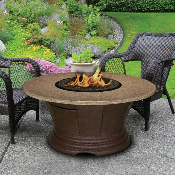 San Simeon Chat Height Fire Pit 23-inch